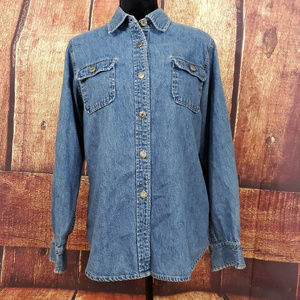 Telluride Blue Denim Blouse Sz 10
